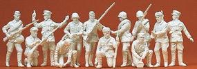 Preiser Soviet Union WWII Infantry Riflemen & Partisan Model Railroad Figures 1/72 Scale #72522