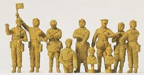 Preiser Soviet Union WWII Tank Crewmen Model Railroad Figures 1/72 Scale #72526