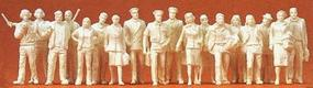 Preiser Civil Airline Personnel, Travelers & Personnel Model Railroad Figures 1/72 Scale #72528
