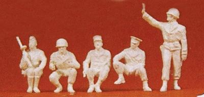 Preiser Kg Allies Late 1945 Military Police Vienna -- Model Railroad Figures -- 1/72 Scale -- #72529