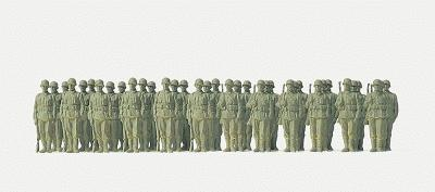 Preiser German Army WWII Infantry Riflemen Lined Up Model Railroad Figures 1/72 Scale #72533