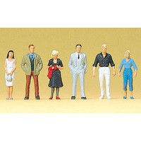 Preiser Passers-by Model Railroad Figures 1/100 Scale #74007
