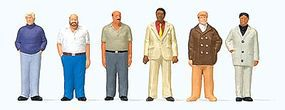 Preiser Standing Men Model Railroad Figures 1/100 Scale #74014
