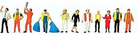 Preiser Unpainted Airline & Airport Personnel Kit (11) Misc Scale Model Figures #77103