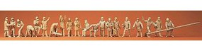 Preiser Firemen Unpainted Model Railroad Figures N Scale #79004
