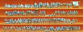 Preiser Unpainted Walking People Set Model Railroad Figures N Scale #79006