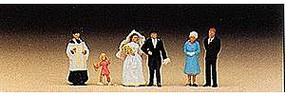 Preiser Catholic Wedding Group Model Railroad Figures N Scale #79058
