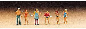 Preiser People at a Grill Party Model Railroad Figures N Scale #79073