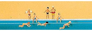 Preiser Children at the Pool Model Railroad Figures N Scale #79091