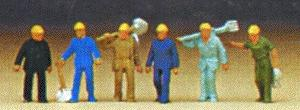 Preiser Track Maintenance Workers Model Railroad Figures N Scale #79096