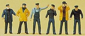 Preiser Ships Crewmen Model Railroad Figures N Scale #79137