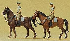 Preiser German Mounted Police In Summer Uniform Model Railroad Figures N Scale #79138