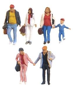 Preiser Walking Travelers #3 Model Railroad Figures N Scale #79192
