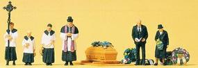 Preiser Catholic Funeral Model Railroad Figures N Scale #79194