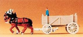 Preiser Horse-Drawn Ore Wagon Model Railroad Vehicle N Scale #79475