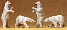 Preiser Polar Bears Model Railroad Figures N Scale #79716