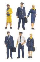 Preiser Civil Airline Personel Model Railroad Figures 1/200 scale #80912