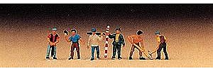 Preiser Kg Workers/Surveyors (6) -- Model Railroad Figure -- Z Scale -- #88514