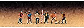 Preiser Workers/Surveyors (6) Model Railroad Figure Z Scale #88514