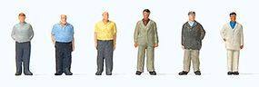 Preiser Standing Men Model Railroad Figure Z Scale #88561