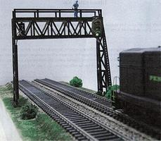 Pastime Double Track Signal Bridge Kit O Scale Model Railroad Trackside Accessory #402