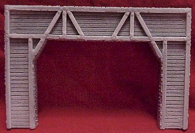 Pre-Size Double Timber Tunnel Portal HO Scale Model Railroad Tunnel #102