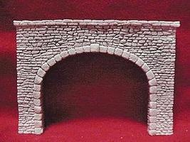 Pre-Size Random Stone Double Track Tunnel Portal HO Scale Model Railroad Tunnel #104