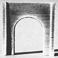 Pre-Size Concrete Single Track Tunnel Portal (4-3/4'' x 4-3/4'') HO Scale Model Railroad Tunnel #113