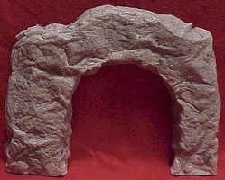 Pre-Size Smooth Square Blasted Rock Tunnel Portal HO Scale Model Railroad Tunnel #119