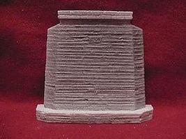 Pre-Size Single Deck Bridge Abutment 30 Old Concrete HO Scale Model Railroad Scenery Hardscapes #144