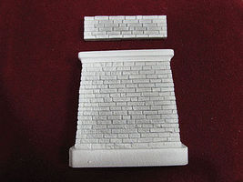 Pre-Size Abutment with Wall Square Corners HO Scale Model Railroad Scenery Hardscapes #148