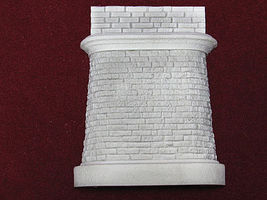 Pre-Size Abutment w/Wall Rnd Crnrs - HO-Scale