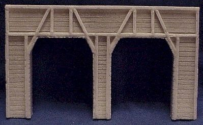 Tunnel Portal Dbl Timber N Scale Psz202 Pre Size Model