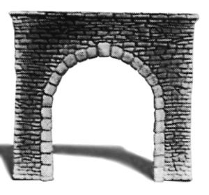Single Random Stone Tunnel Portal N Scale Model Railroad