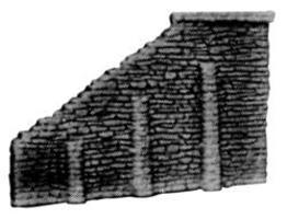 Pre-Size Tunnel Abut Rndm Stone 2/ - N-Scale (2)