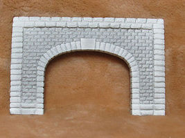 Pre-Size Dressed Limestone Double-Track Tunnel Portal Model Railroad Tunnel #504
