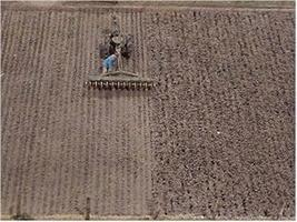 Pre-Size Plowed Field HO Scale Model Railroad Earth #701