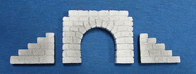 Pre-Size Cut Stone Tunnel Portal (2) Z Scale Model Railroad Tunnel #901