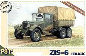 PST ZIS6 Halftrack Truck Plastic Model Military Truck Kit 1/72 Scale #72019