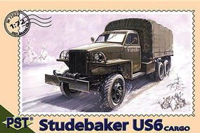 PST US6 Studebaker Cargo Truck Plastic Model Military Truck Kit 1/72 Scale #72022