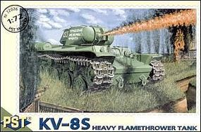 PST KV8S Soviet Heavy Flamethrower Tank Plastic Model Tank Kit 1/72 Scale #72026