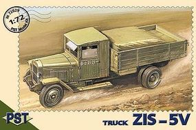 PST ZIS5V Truck Plastic Model Military Truck Kit 1/72 Scale #72029