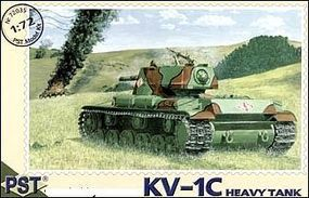 PST KV1C Soviet Heavy Tank Plastic Model Tank Kit 1/72 Scale #72035
