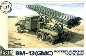 PST Rocket Launcher BM12 Katyusha Based on GMC Chassis Plastic Model Artillery Kit 1/72 #72042