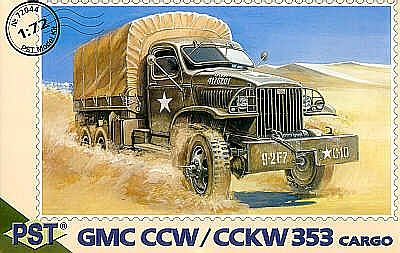 PST Models GMC CCW/CCKW353 Cargo Truck -- Plastic Model Military Truck Kit -- 1/72 Scale -- #72044