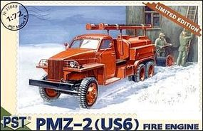 PST PMZ2 (US6) Fire Engine Truck Plastic Model Military Fire Truck Kit 1/72 Scale #72049