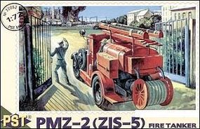 PST PMZ2 (ZIS5) Fire Tanker Truck Plastic Model Military Fire Truck Kit 1/72 Scale #72052