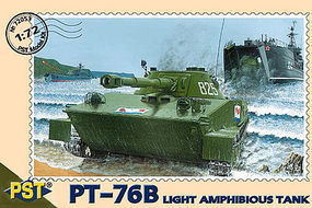 PST PT76B Soviet Light Amphibious Tank Plastic Model Tank Kit 1/72 Scale #72053