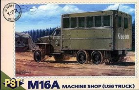 PST M16A Machine Shop Truck on US6 Base Plastic Model Military Truck Kit 1/72 Scale #72056