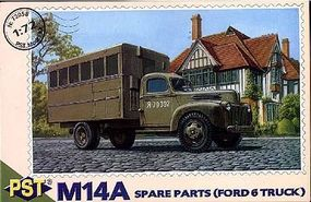 PST M14A Spare Parts Truck on Ford 6 Base Plastic Model Military Truck Kit 1/72 Scale #72058